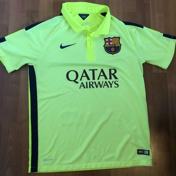 save off debc4 1eaee Used Nike FC Barcelona 14-15 Yellow Away Jersey